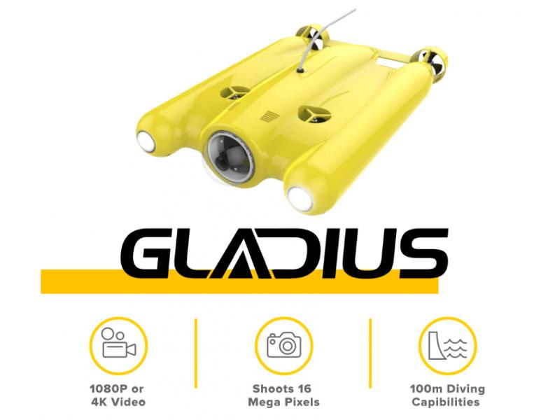 Gladius Ultra HD 4K Underwater Drone, Unmanned underwater systems