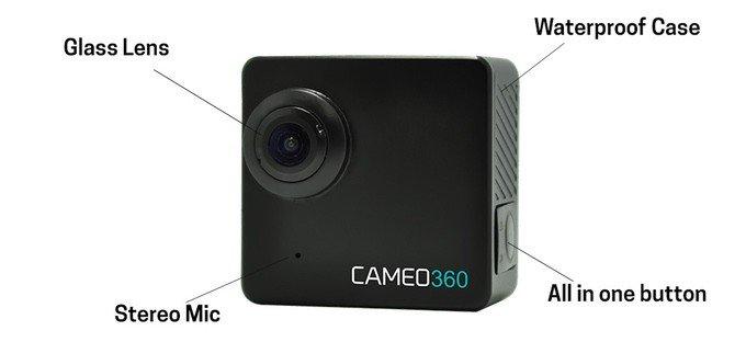 cameo360, dual lens camera, action camera