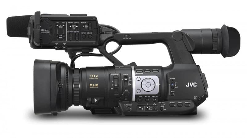 JVC HM360 review, pro HD camcorder, handheld camcorder
