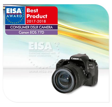 Canon EOS 77D, DSLR camera, EISA awards