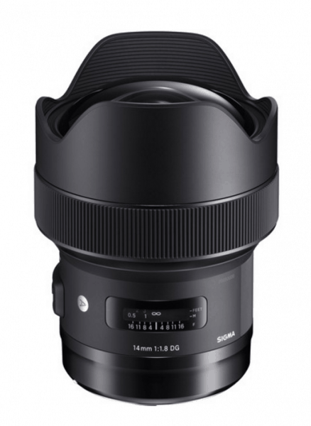 Sigma 14mm f/1.8 DG HSM Art Lens, EF Mount Lens, camera lens, wide-angle lens