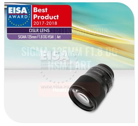 SIGMA 135mm F1.8 DG HSM | Art , EISA Awards, DSLR lens