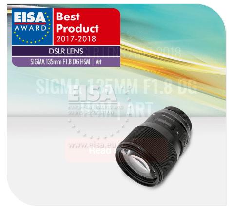 SIGMA 135mm F1.8 DG HSM | Art , EISA Awards, DSLR lens