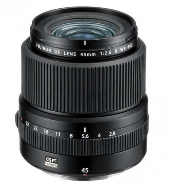 Fujinon GF 45mm F2.8 R WR, camera lens, Fujinon lens, G-mount GFX camera system