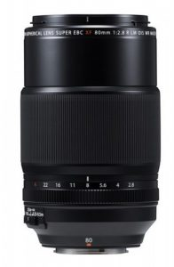 Fujinon XF 80mm F2.8 LM OIS WR Macro lens with 1.0x magnification