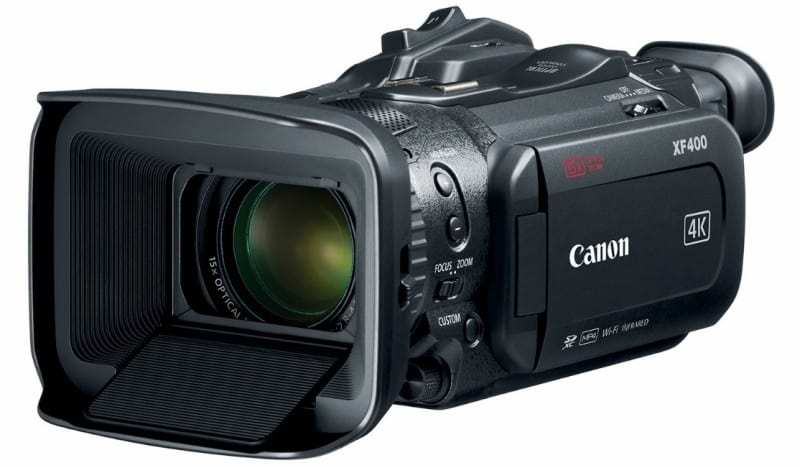 Canon XF400, Canon 4K, 2017 camcorders