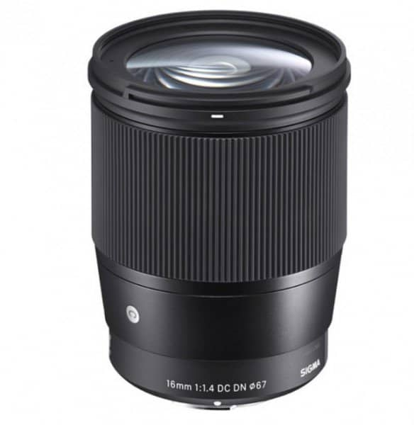 Sigma 16mm f/1.4 DC DN Contemporary Lens, E-Mount Lens, APS-C Format