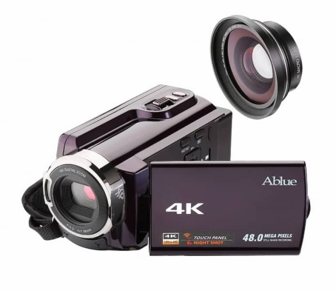 Ablue 4K Ultra-HD Portable Digital Video Camera