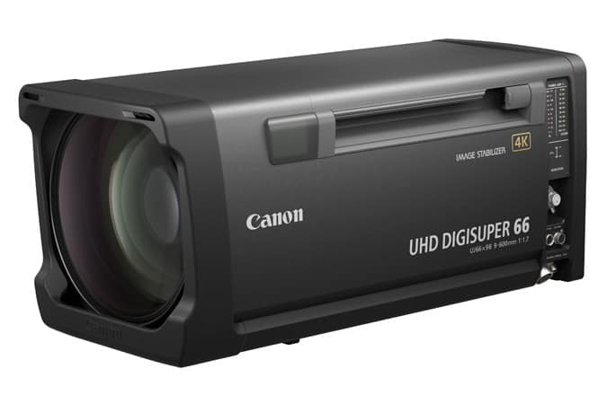 UHD-DIGISUPER 66, 4K telephoto broadcast lens, 4K UHD broadcast cameras