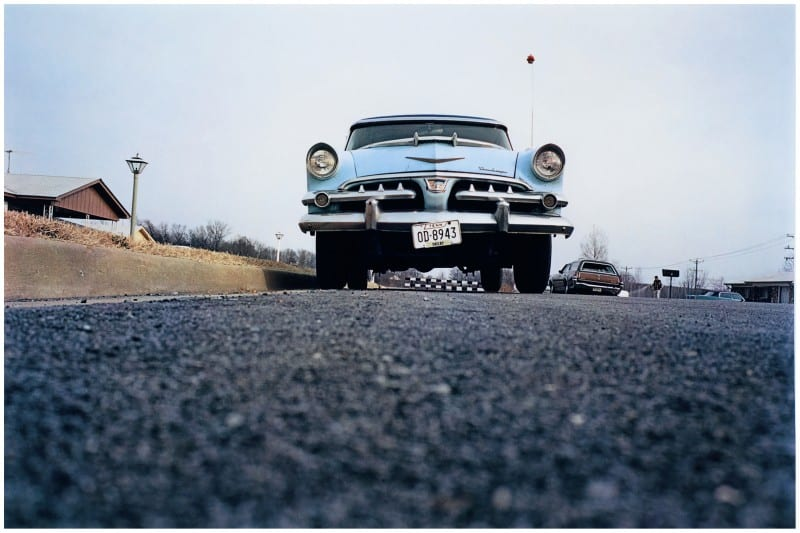 William Eggleston blue car