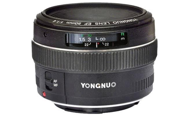 Yongnuo 50mm F1.4 lens