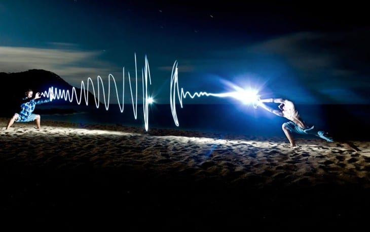light-painting photography