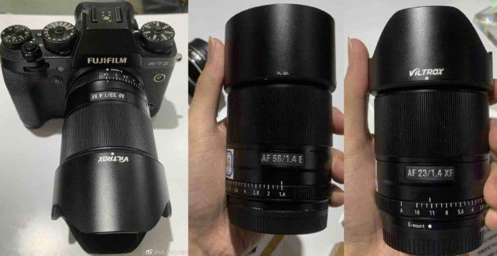 Viltrox 23mm, 33mm or 85mm X-mount lenses